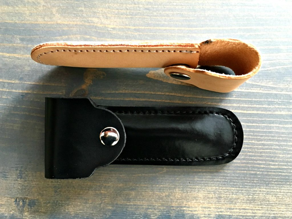 Fendrihan Safety Razor Leather Case Tan and Black
