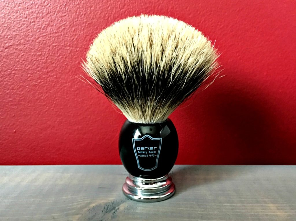 Parker Deluxe Pure Badger Shaving Brush